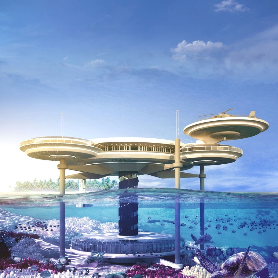 Luxury underwater water disc hotel dubai lifestyle amour for The big hotel in dubai