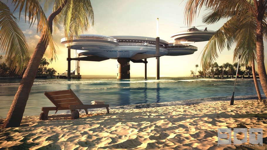 Luxury underwater water disc hotel dubai lifestyle amour for Luxury dubai accommodation